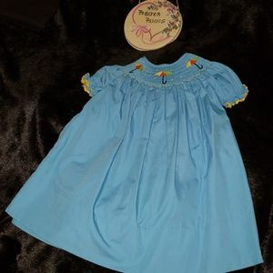 Giggles and Grace Smocked 18m Dress